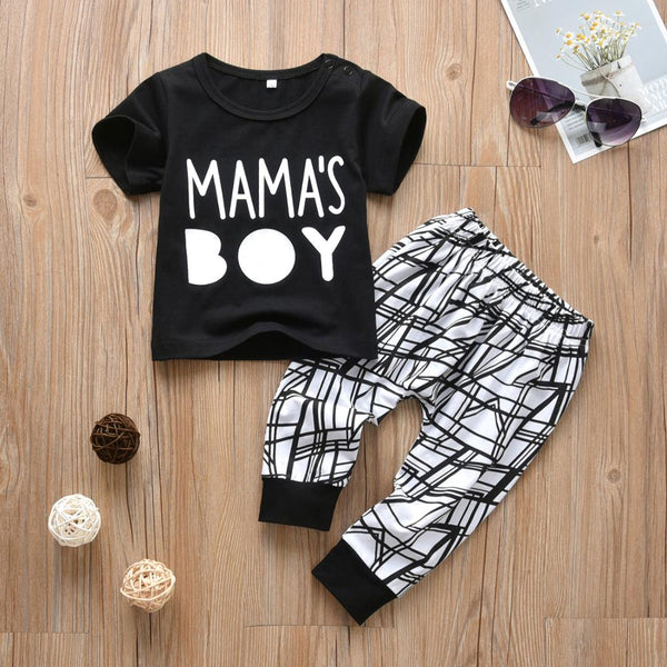 Mama's Boy Pajama Set - Just Kidding Store