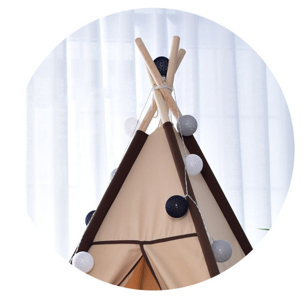 Brown Canvas Teepee Cotton Canvas Kids Play Tent - Just Kidding Store