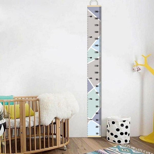 Geometric Shapes Kids Children Wall Hanging Growth Chart - Just Kidding Store