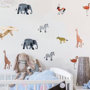 Safari Wall Stickers - Kids Wall Decor - Just Kidding Store