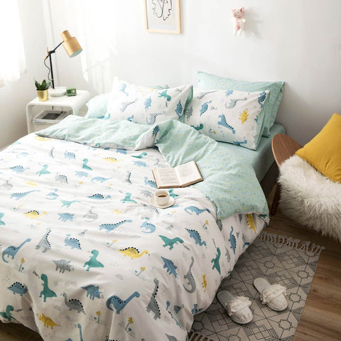 Mini Dinosaurs Bedding Set Childrens Nordic Bed Set - Just Kidding Store