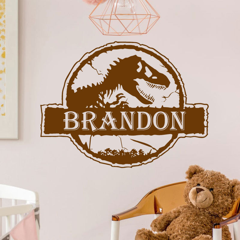 Personalized Tyrannosaur Vinyl Decal - Just Kidding Store