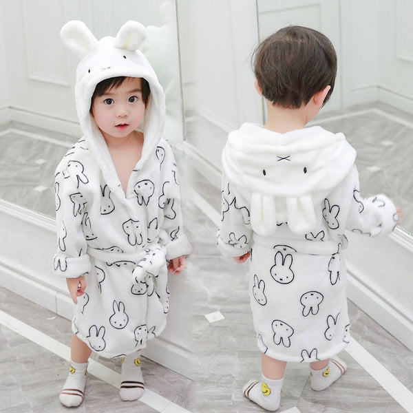 Ultra Soft Velvet Bathrobe Kawaii Bunny Nightgown - Just Kidding Store