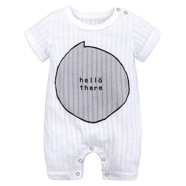 Hello There Bow Baby Toddler Kids Summer Romper - Just Kidding Store