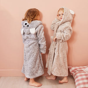 Kids Hooded Chunky Dressing Gown - Bear Kids Robe - Just Kidding Store