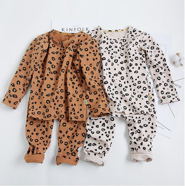 Leopard Print Sleepwear - Kids Pajamas - Just Kidding Store