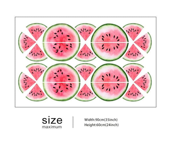 Watermelon Wall Stickers - Pink Melon Decals - Just Kidding Store