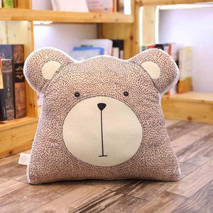 Soft Cushions Elephant Fox Deer Bear Giraffe Rabbit - Just Kidding Store