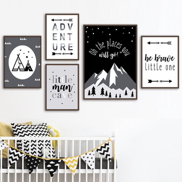 Adventure Inspiring Canvas Paintings Nordic Wall Art - Just Kidding Store