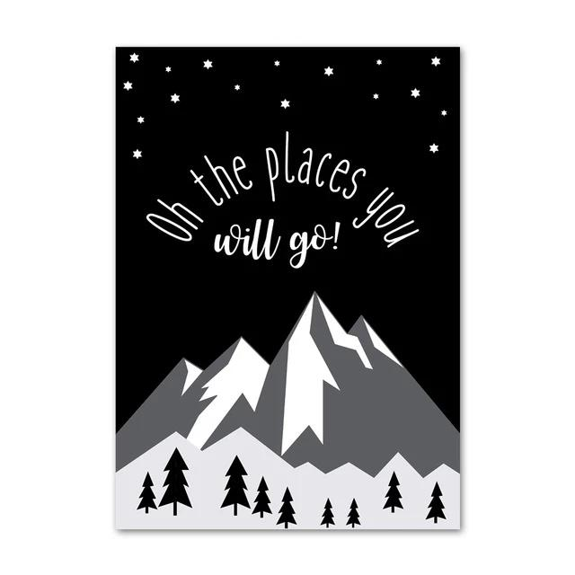 Oh The Places You Will Go - Adventure Inspiring Canvas Paintings Nordic Wall Art - Just Kidding Store