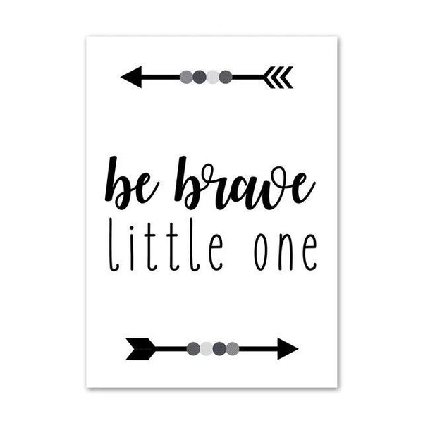 Be Brave Little One - Adventure Inspiring Canvas Paintings Nordic Wall Art - Just Kidding Store