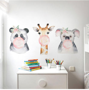 Safari Animals Watercolour Wall Decal - Just Kidding Store
