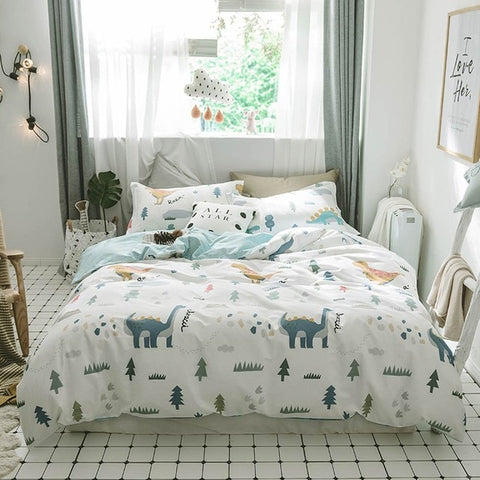 Mini Dino Bedding Set Children Nordic Style Bedding - Just Kidding Store