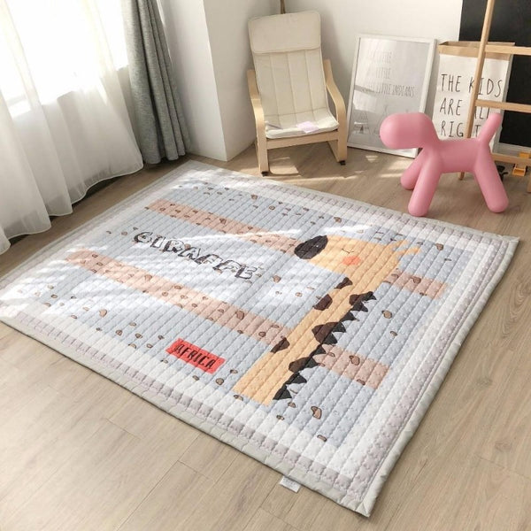 Oversized Play Mat - Quilted Anti Skid Carpet