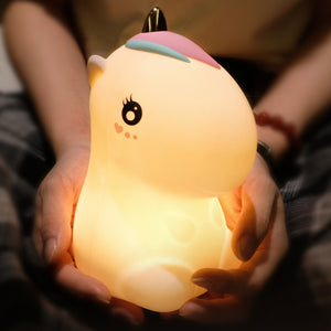 Unicorn Night Light Tap Control Color Changing Lamp - Just Kidding Store