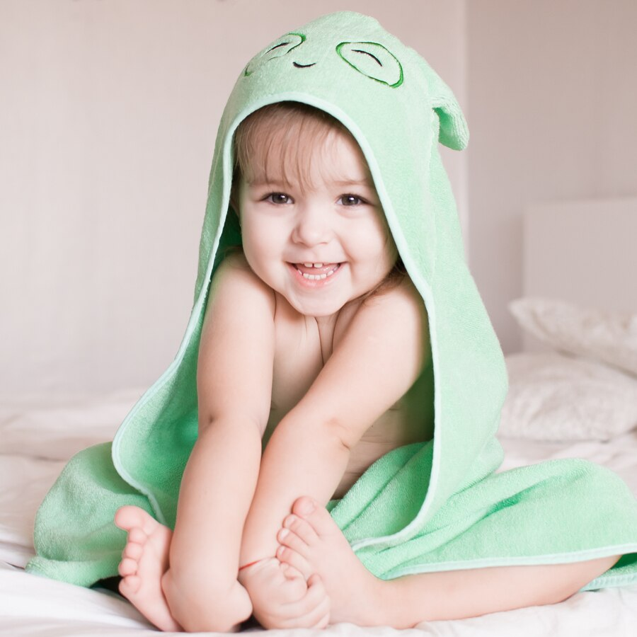 Animal Design Cotton Terry Baby Kids Hooded Towel - Just Kidding Store