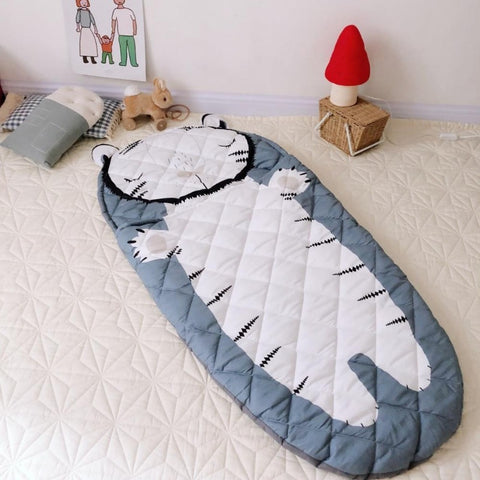 Kids Sleeping Bag Children Sleep Sack White Tiger - Just Kidding Store