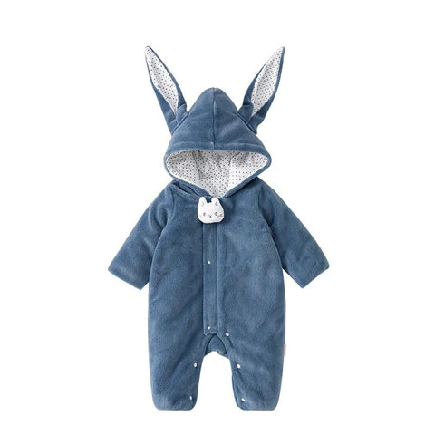 Navy Bunny Baby Kids Romper - Just Kidding Store