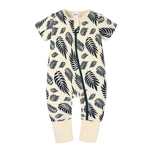 Black Leaves Baby Toddler Kids Summer Romper - Just Kidding Store