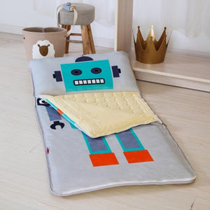 Big Robot Sleeping Envelope - Kids Sleeping Bag With Pillow - Just Kidding Store