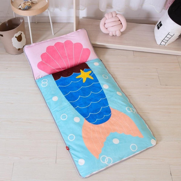 Mermaid Sleeping Envelope - Kids Sleeping Bag With Pillow - Just Kidding Store