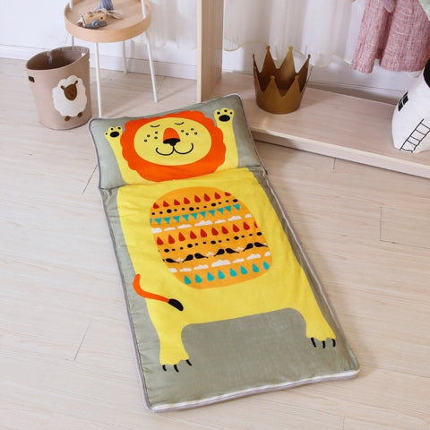 Big Lion Sleeping Envelope - Kids Sleeping Bag With Pillow - Just Kidding Store