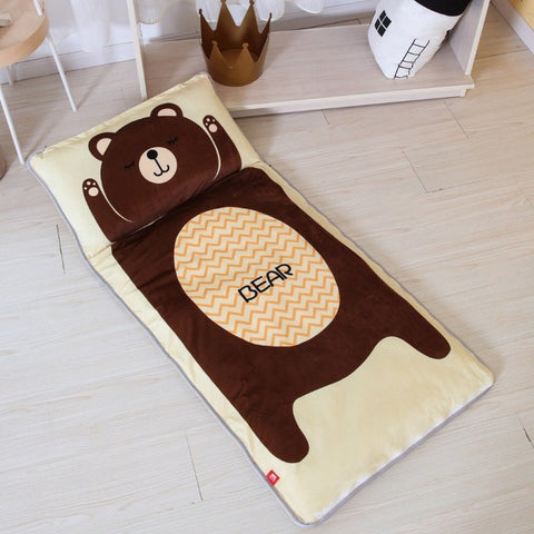 Bear Sleeping Envelope Kids Sleeping Bag With Pillow - Just Kidding Store