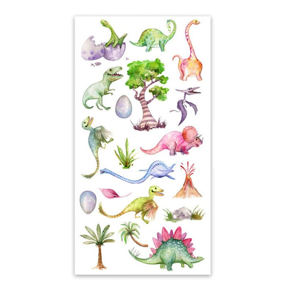 Watercolor Dinosaurs Wall Sticker
