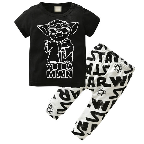 Childrens Yoda Man Pajama Set - Just Kidding Store