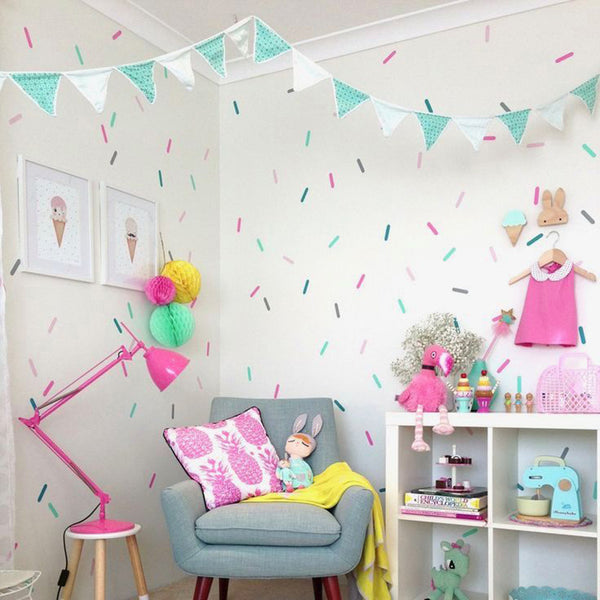 Sprinkles Wall Stickers - Kids Wall Decals - Just Kidding Store