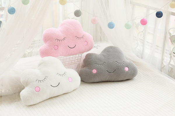 Plush Cushion - Cloud Moon Star Raindrop - Just Kidding Store