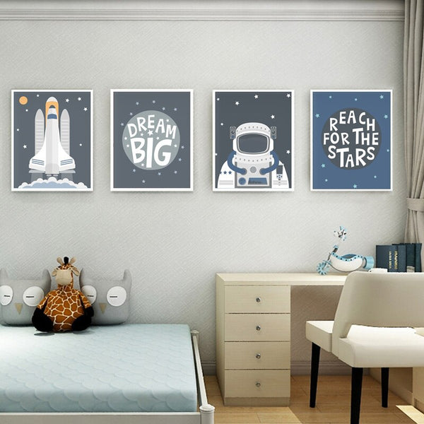 Dream Big - Space Series Canvas Wall Art