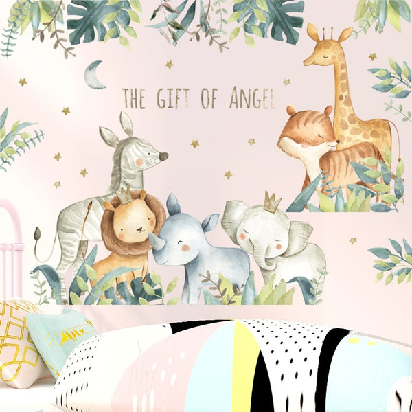The Gift Of Angel - Kids Animals Safari Wall Decal - Just Kidding Store