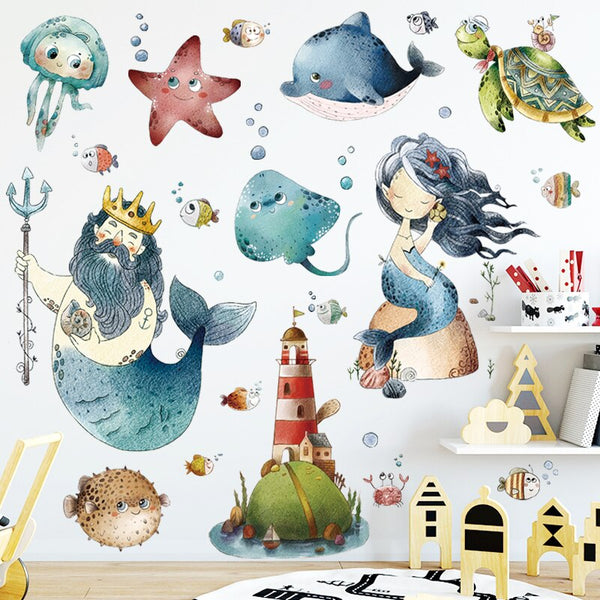 Under The Sea Nursery Bedroom Wall Stickers - Just Kidding Store
