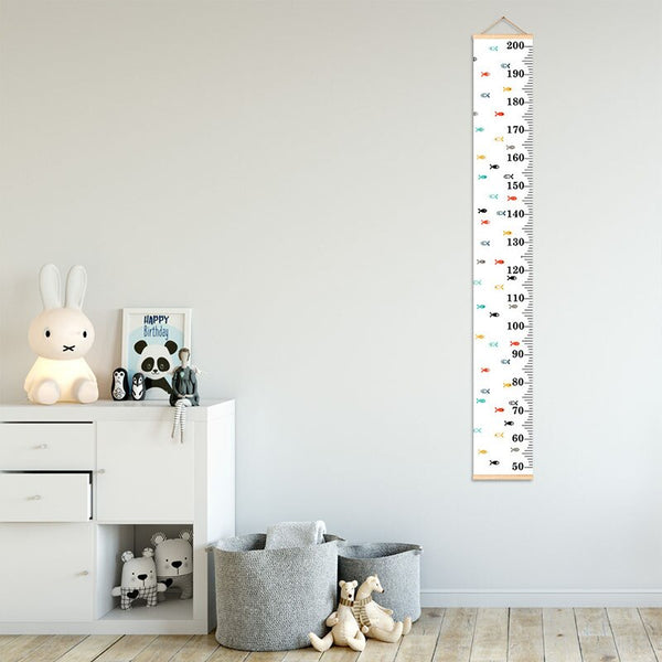 Colorful Wall Hanging Growth Chart - House, Triange, Fish, Dot, Star - Just Kidding Store