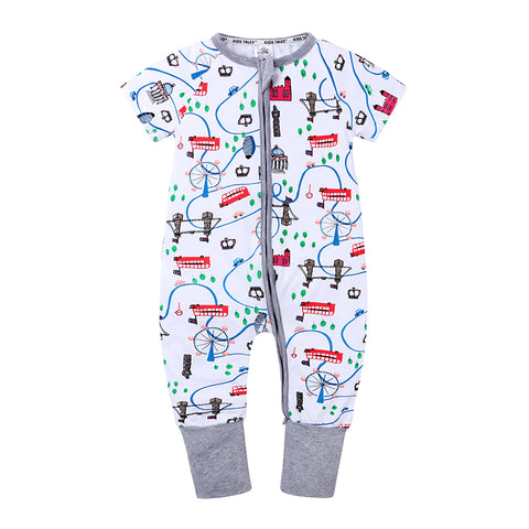 London Sights Baby Toddler Kids Summer Romper - Just Kidding Store