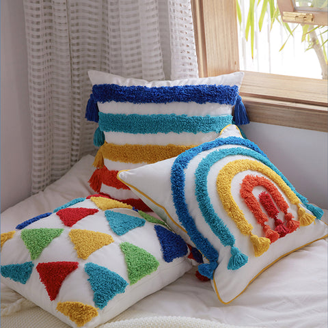 Handmade Rainbow Cushion Cover - Kids Pillows - Just Kidding Store