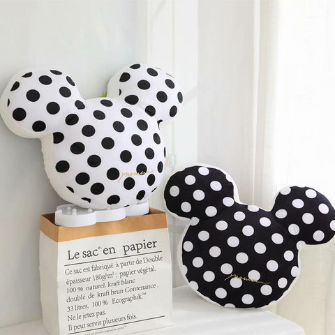 Mouse Ears Plush Cushion - Minnie Mouse Pillow - Just Kidding Store