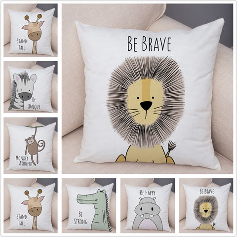 Animal Series Children's Cushion Covers - Just Kidding Store