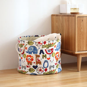 Tube Toy Storage - Kids Canvas Laundry Basket - Just Kidding Store