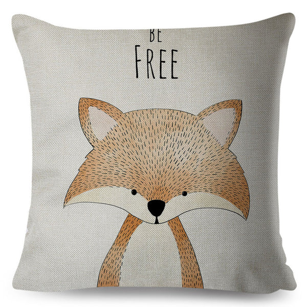 Nordic Style Cushion Cover Animal Print Pillow Case Just Kidding Store