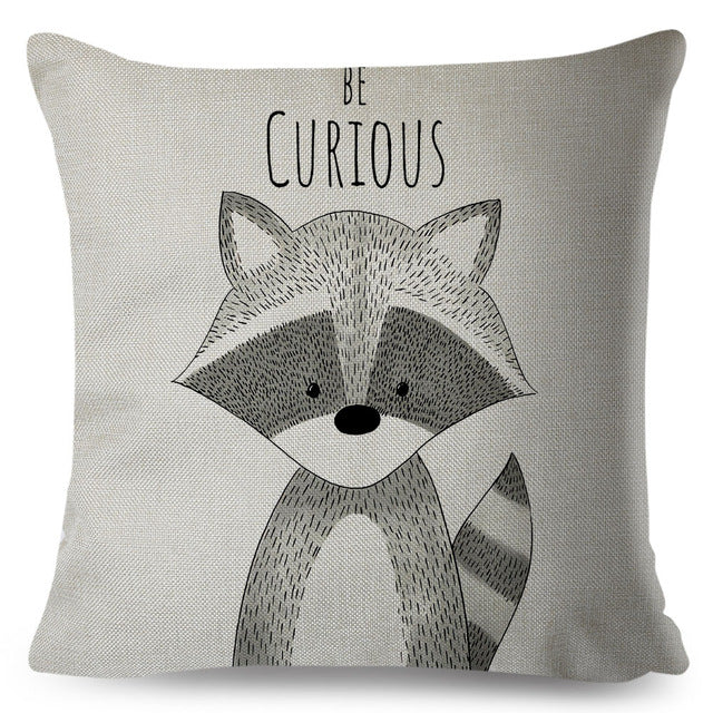 Nordic Style Cushion Cover - Animal Print Pillow Case