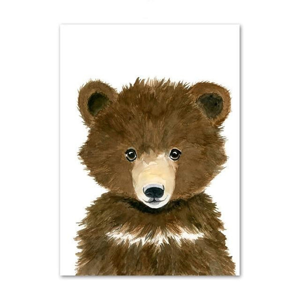 Nursery Childrens Canvas Wall Art Animals Series - Just Kidding Store