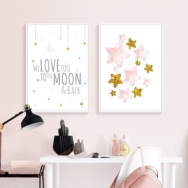 Nordic Nursery Canvas Wall Art Childrens Posters - Just Kidding Store