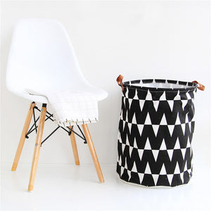Monochrome Large Toy Storage Hamper Bags - Just Kidding Store