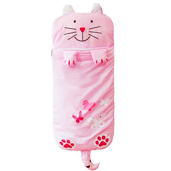 Pink Kitty Sleeping Bag - Kids Sleep Sack - Just Kidding Store