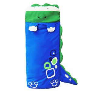 Blue Dinosaur Sleeping Bag - Kids Sleep Sack - Just Kidding Store