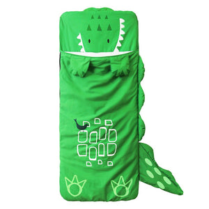 Green Dinosaur Rabbit Sleeping Bag Kids sleep Sack - Just Kidding Store