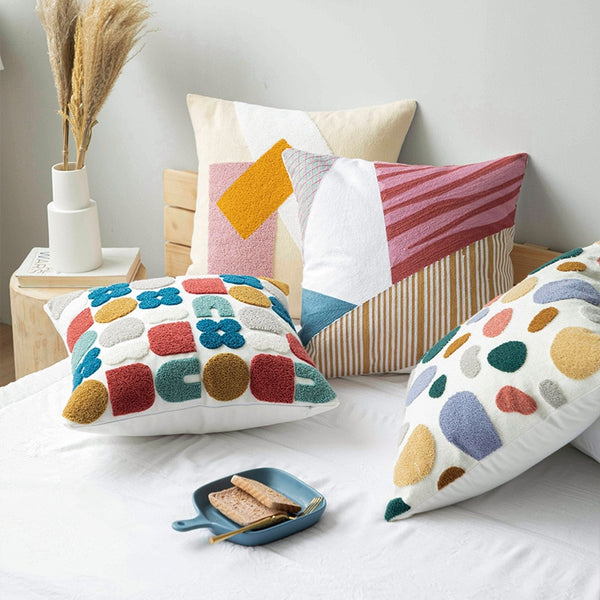 Contemporary Embroidery Pillow Cover - Just Kidding Store