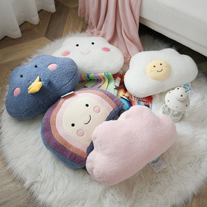 Cloud Cushion Childrens Pillow Rainbow Egg Yolk Thunder - Just Kidding Store